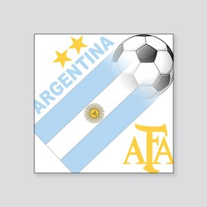 "Argentina(blk) Square Sticker 3"" x 3"""