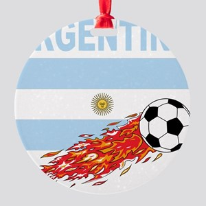 Argentina(blk) Round Ornament