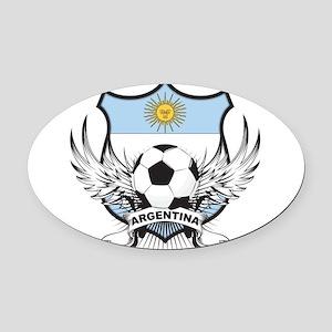 Argentina(blk).png Oval Car Magnet