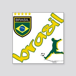 "Brazil Square Sticker 3"" x 3"""