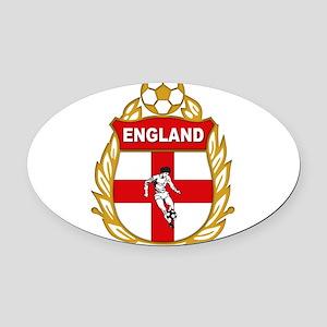 england Oval Car Magnet