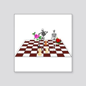 "chess01 Square Sticker 3"" x 3"""