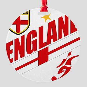 england Round Ornament