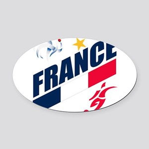 france Oval Car Magnet