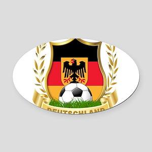 germany soccer Oval Car Magnet