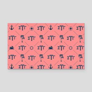 Sigma Tau Gamma Pattern Coral Rectangle Car Magnet