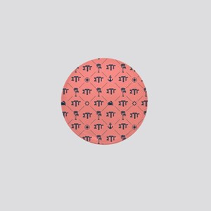 Sigma Tau Gamma Pattern Coral Mini Button