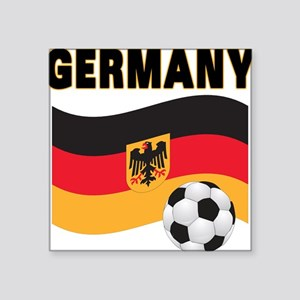 "germany soccer Square Sticker 3"" x 3"""