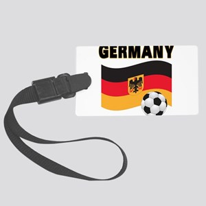 germany soccer Large Luggage Tag