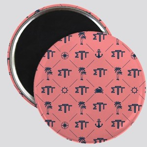Sigma Tau Gamma Pattern Coral Magnets