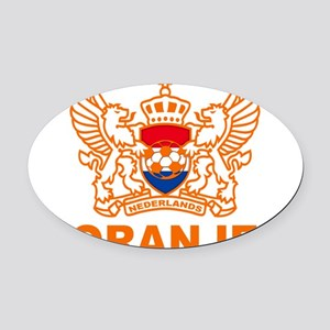 NETHERLANDS E Oval Car Magnet