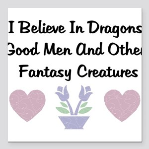 "dragons01 Square Car Magnet 3"" x 3"""