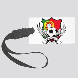 portugal soccer(blk) Large Luggage Tag