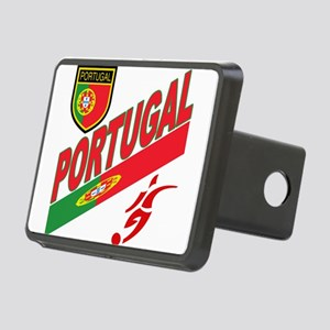 portugal soccer(blk) Rectangular Hitch Cover