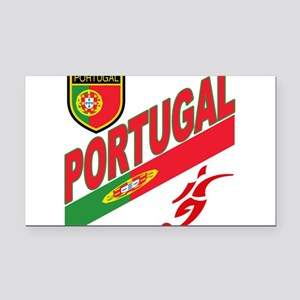 portugal soccer(blk) Rectangle Car Magnet
