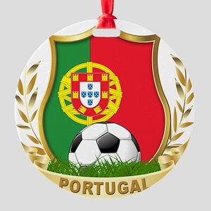portugal soccer(blk) Round Ornament