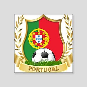 """portugal soccer(blk) Square Sticker 3"""" x 3"""""""