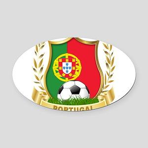 portugal soccer(blk) Oval Car Magnet