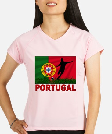 portugal soccer(blk).png Performance Dry T-Shirt