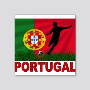 "portugal soccer(blk) Square Sticker 3"" x 3"""