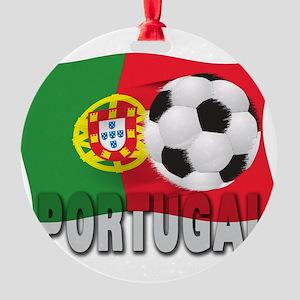 Portugal(blk) Round Ornament