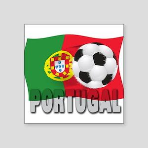 """Portugal(blk) Square Sticker 3"""" x 3"""""""