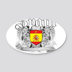 2010 spain champions Oval Car Magnet