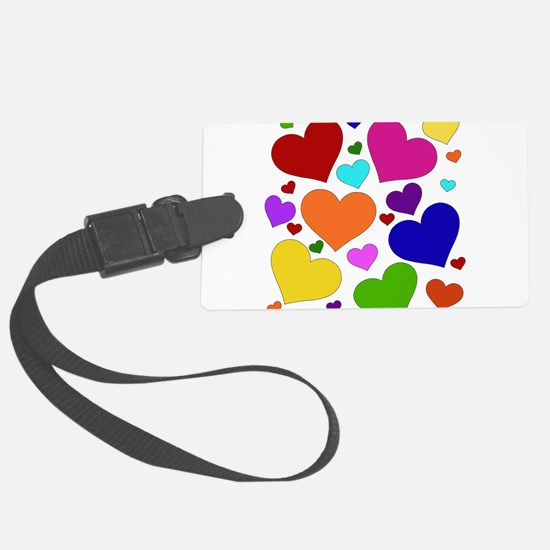 rainbow_hearts_valentine01.png Luggage Tag