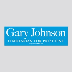 Gary Johnson for President 36x11 Wall Decal