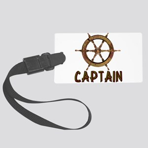 boating_captain01 Large Luggage Tag