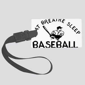b_baseball01 Large Luggage Tag