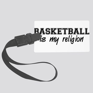 a_basketball01 Large Luggage Tag