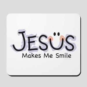 Jesus Makes Me Smile: Mousepad
