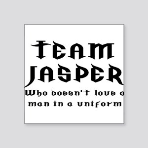 "team jasper Square Sticker 3"" x 3"""