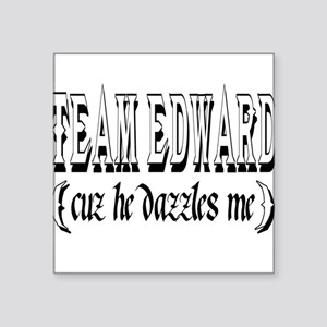 "Team edward Square Sticker 3"" x 3"""