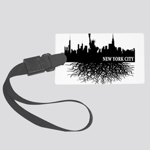 new york city roots Large Luggage Tag