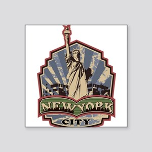 "raised inthe bronx Square Sticker 3"" x 3"""