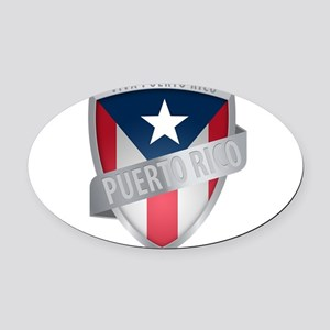 puerto rico Oval Car Magnet