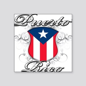"PR shield Square Sticker 3"" x 3"""