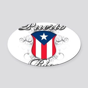 PR shield Oval Car Magnet