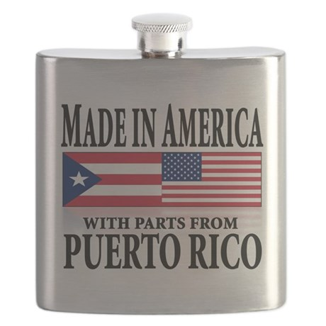made in america w-Puerto rican parts Flask