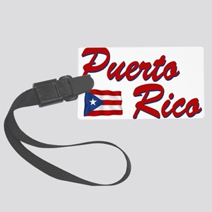 puerto rico(blk) Large Luggage Tag