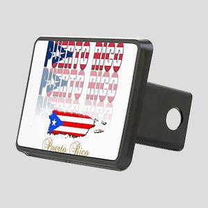 puerto rico(blk) Rectangular Hitch Cover