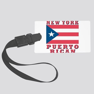 new york Puerto rican Large Luggage Tag