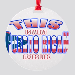 Puerto rican looks like Round Ornament