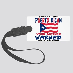 Warned you about T-Shirt Large Luggage Tag