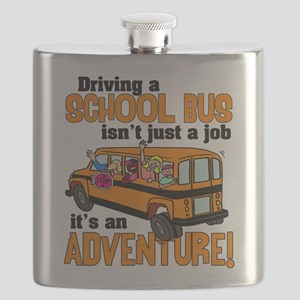 Driving a School Bus Flask