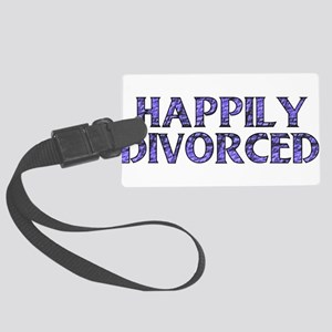 divorced01 Large Luggage Tag