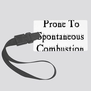 combustion01 Large Luggage Tag