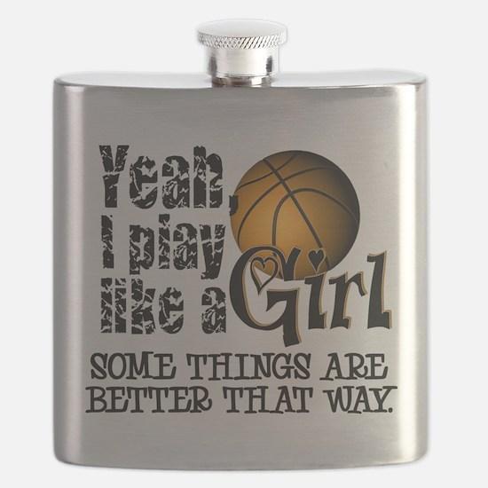 Play Like a Girl - Basketball Flask